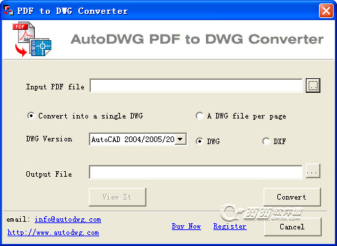 PDF转dwg(AutoDWG PDF to DWG Converter)