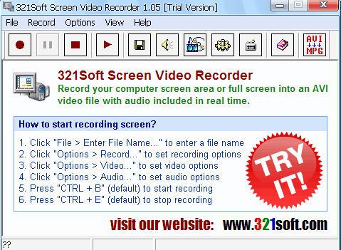 屏幕录像机(321Soft Screen Video Recorder)