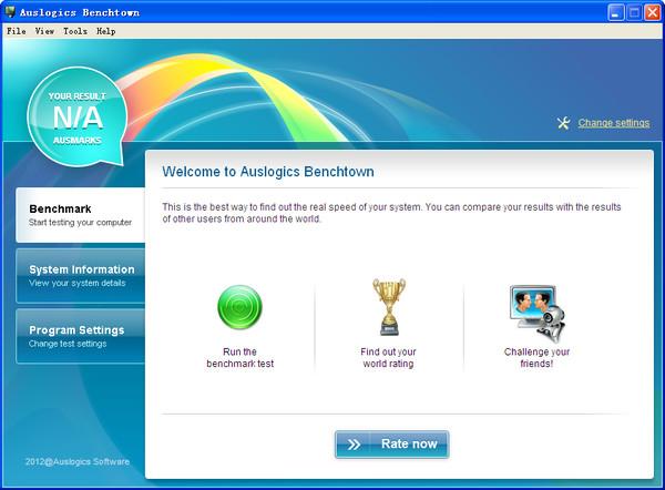 Auslogics Benchtown 硬件性能测试工具