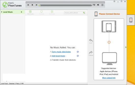 音乐同步软件(KiwiG PhonTunes)