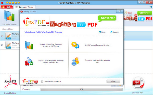 WordStar转换到PDF转换器