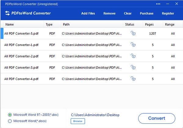 PDFtoWord Converter(全能PDF转Word转换器)截图