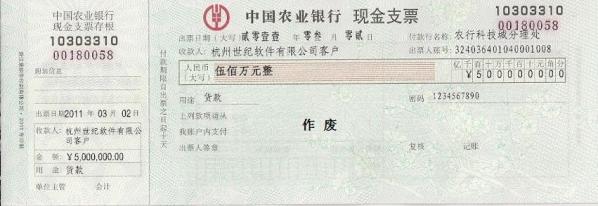 票据之星支票票据打印软件截图