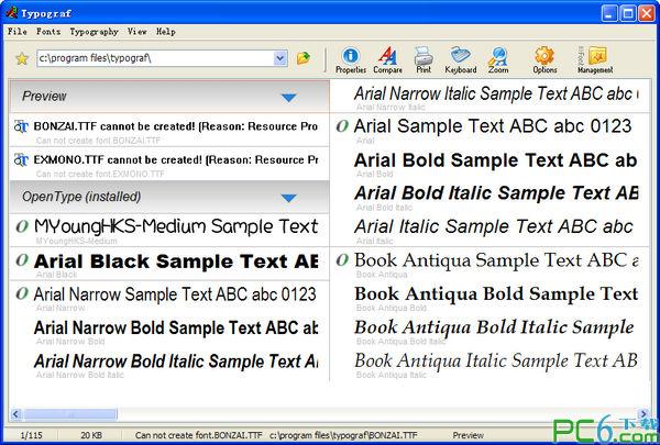 字体预览工具(Typograf)