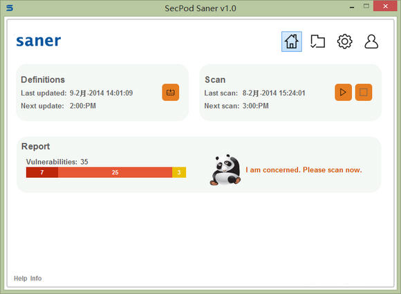 软件漏洞检测修复工具(SecPod Saner)