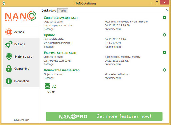NANO AntiVirus(杀毒软件)