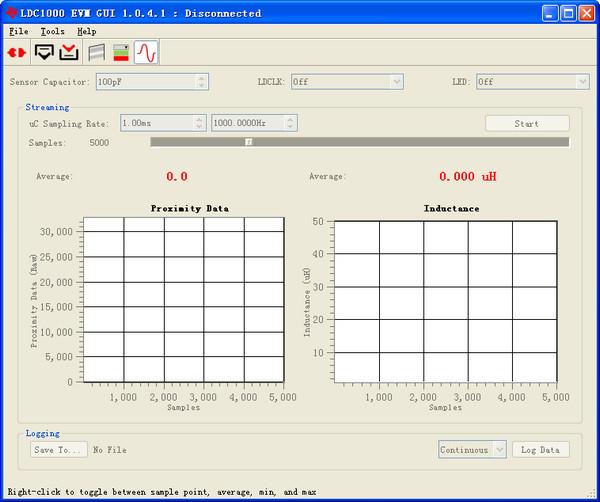 电感数字转换器LDC1000 EVM GUI