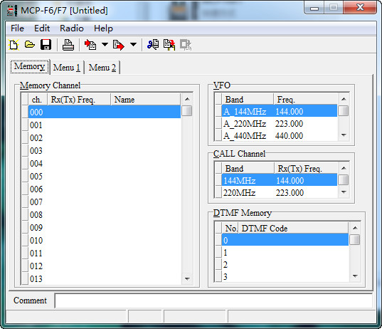建伍TH-F6A对讲机写频软件