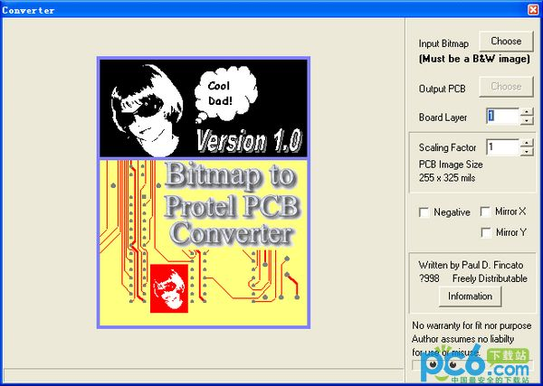 BMP转PCB(BITMAP to PROTEL PCB CONVERTER)