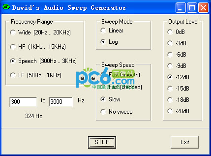 sound声卡信号发生器(Davids Audio Sweep Generator)