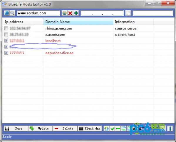 hosts文件编辑器(BlueLife Hosts editor)
