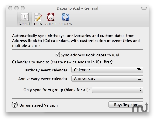 Dates to iCal