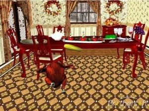 3D Dancing Holiday Turkey DinnerLOGO