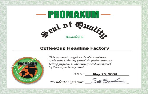 CoffeeCup Headline Factory