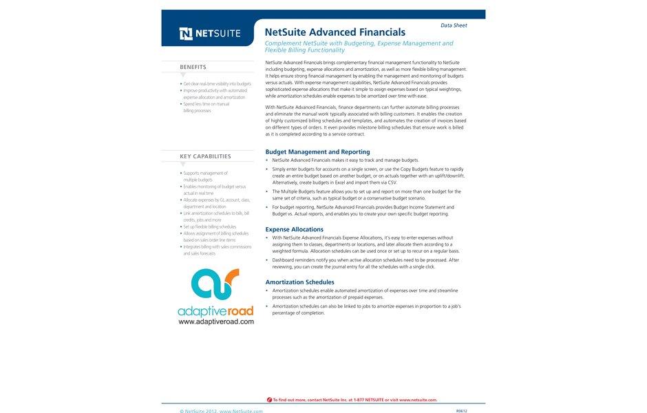 Advanced Financials 绿色版