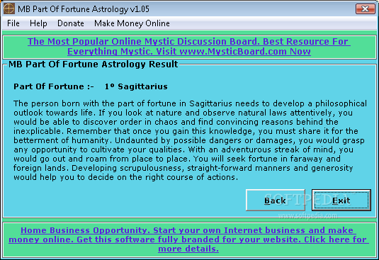 MB Part Of Fortune Astrology