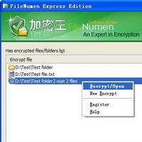 FileNumen Exp for folder lock