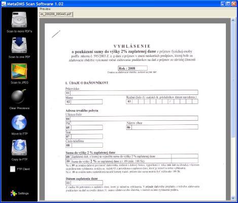 MetaDMS Scan Software
