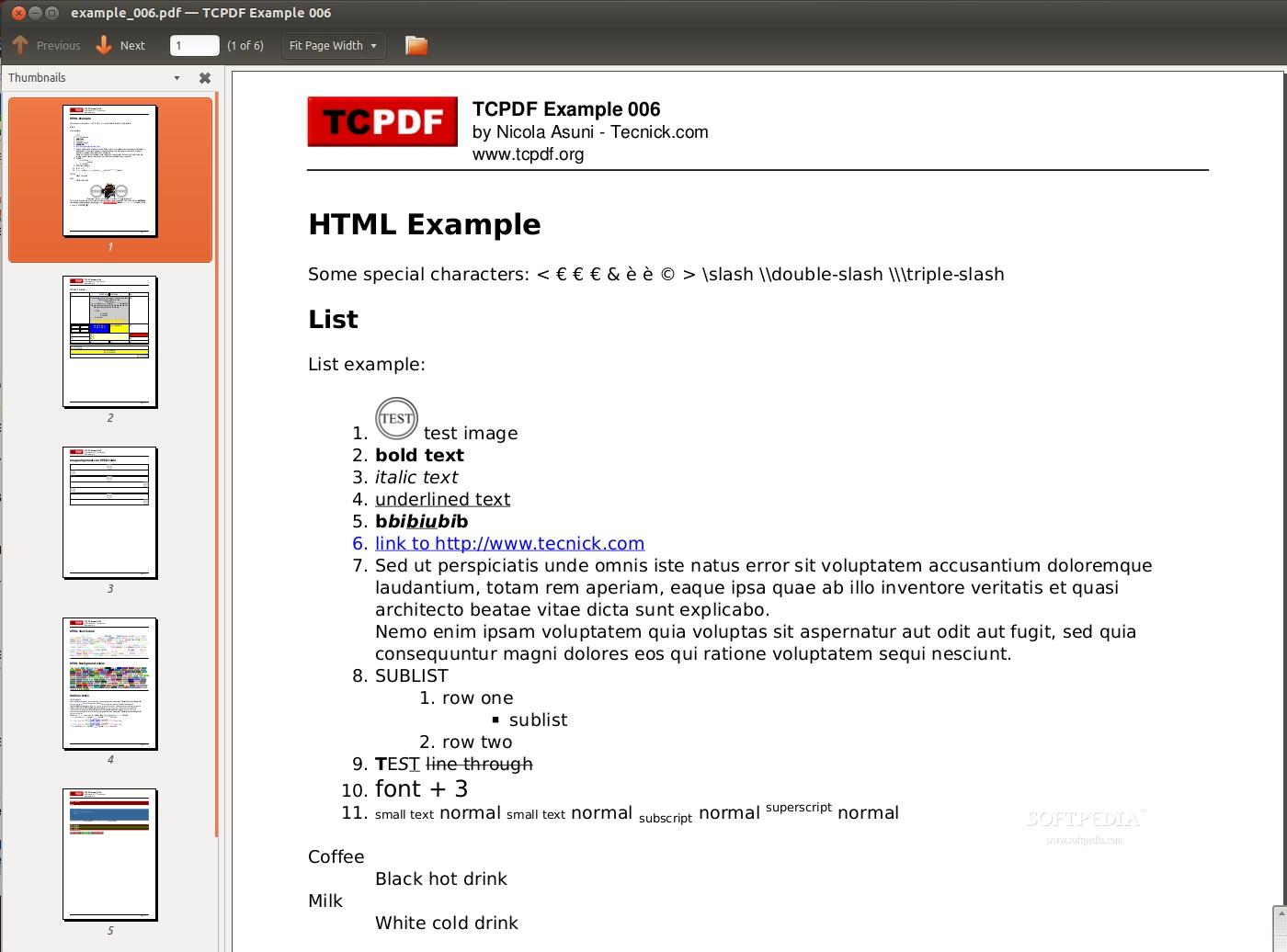 TCPDF PHP5