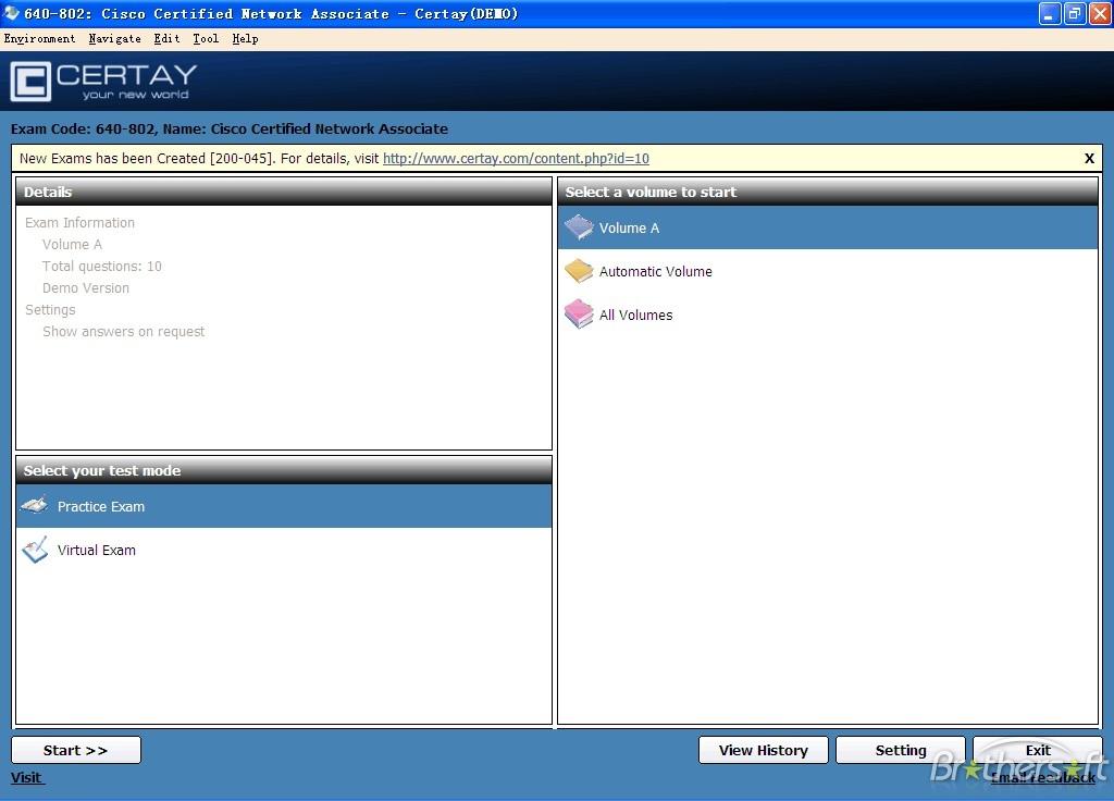 Certay CCNA 640-802 Exam Simulation