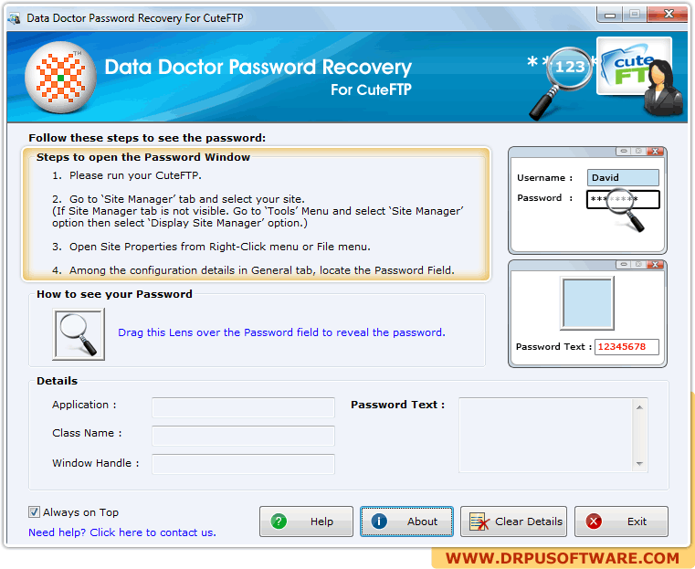 CuteFTP Password Recovery 1.00
