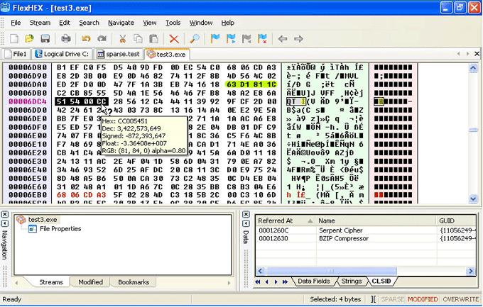 Binary editor
