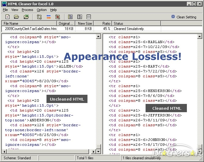 HTML Cleaner for Excel