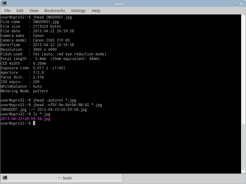 Jhead For Linux