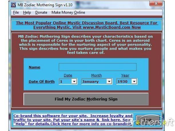 MB Zodiac Mothering Sign