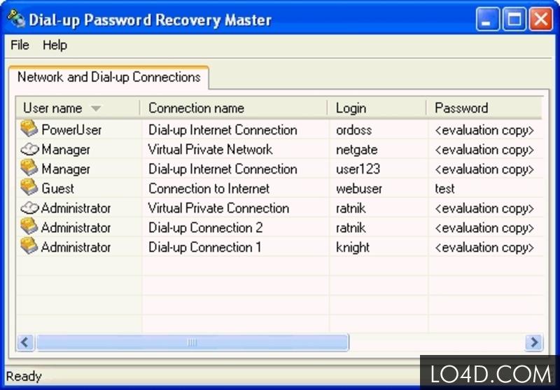 Network and Dial-up Password RevealerLOGO