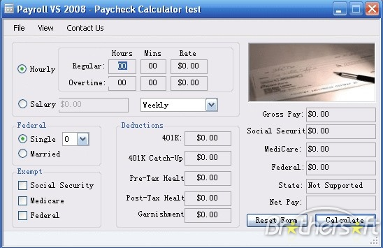 Payroll VS 2008 - Paycheck CalculatorLOGO