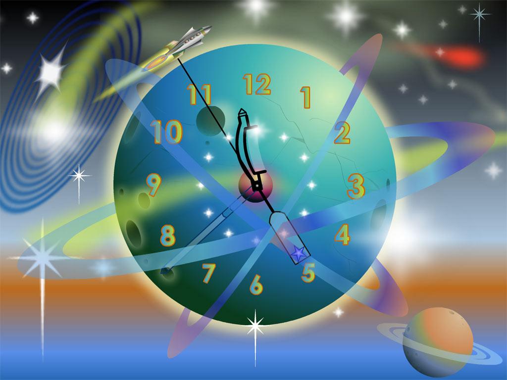 RocketRocket Clock ScreenSaver