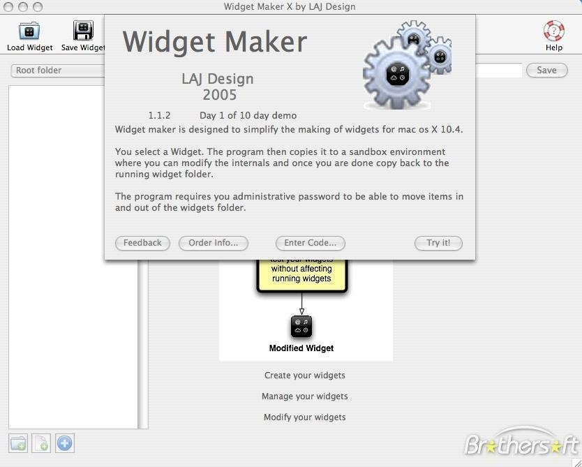 Widget Maker X