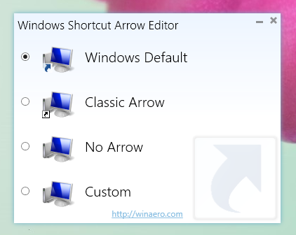 Windows Shortcut Arrow Editor