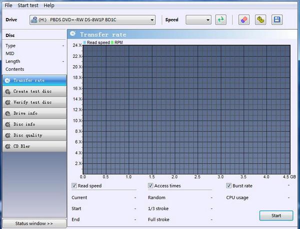 光驱测试软件OptiDrive截图