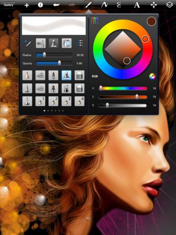 ipad绘画软件(SketchBook)截图