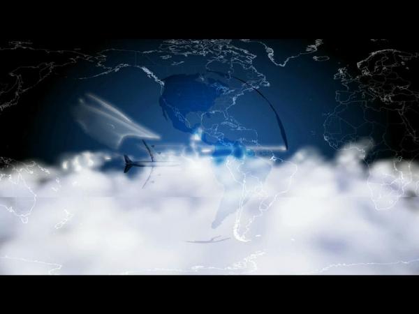 3D逼真云雾动态屏保截图