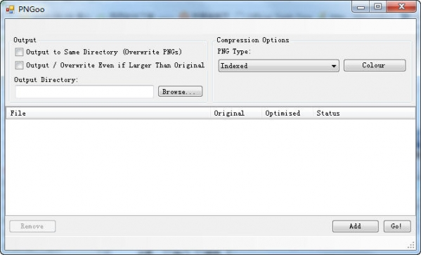 PNG图片压缩工具PNGoo截图