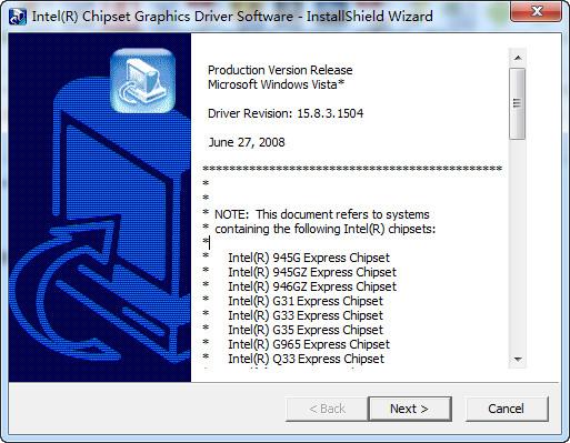 Intel 945G/940GML系列集成显卡驱动截图