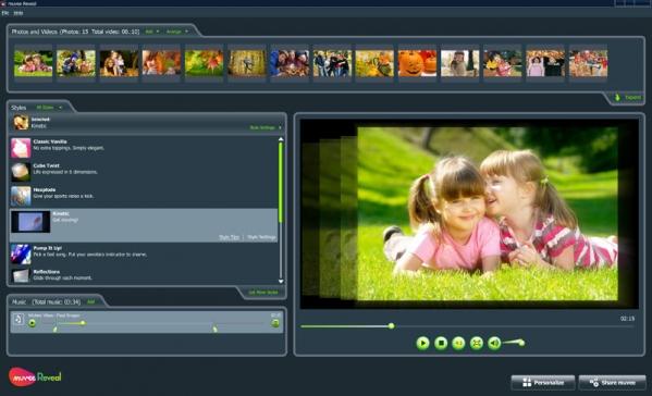 家庭影片制作软件Muvee Reveal X