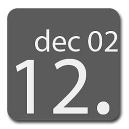 今日主題大字體時間插件
